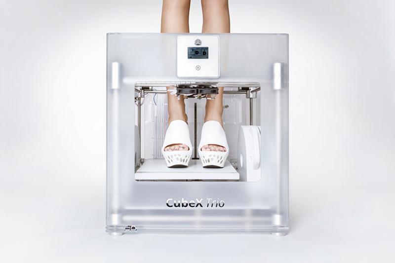 3D printed shoes cubify CubeX designboom