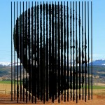 Лик Манделы в небе Африки