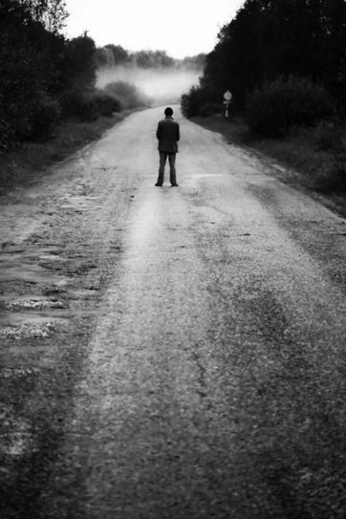 картинка уходящего человека в даль