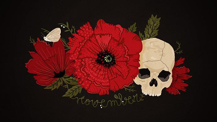 Картинки череп с цветами