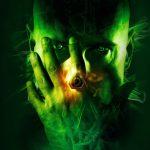 Зеленый Чарли без лица